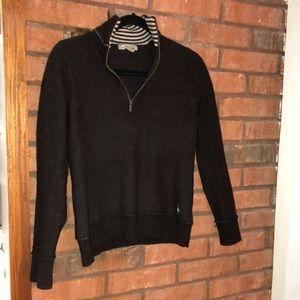 Brown Smartwool Zip neck sweater | Size M